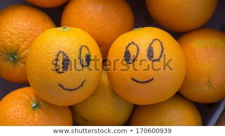 Foto stock: Funny · frutas · cuadro · vector · Cartoon