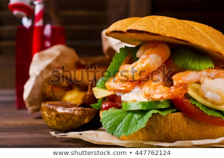 Shrimp burgers Stock photo © moses