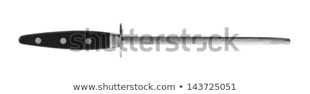 Knife and sharpener isolated on white background Stock photo © ozaiachin
