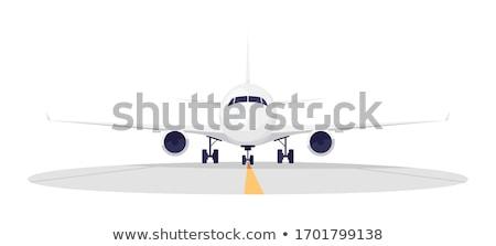 Vliegtuig landing landingsbaan groot luchthaven hemel Stockfoto © ssuaphoto
