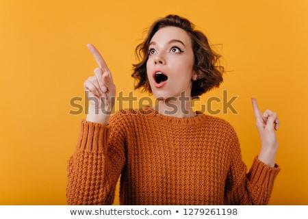 verjaardag · zwangere · vrouw · maag · aanwezig · liefde - stockfoto © ronen