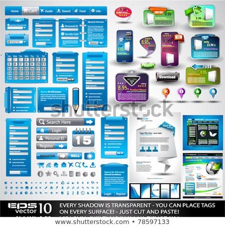 вектора · Кнопки · красочный · бизнеса · интернет - Сток-фото © liliwhite