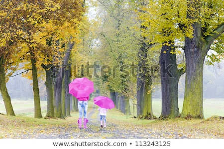 Moeder dochter steegje meisje kind Stockfoto © phbcz