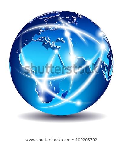 Afryki · Indie · planety · komunikacji · świat - zdjęcia stock © fenton