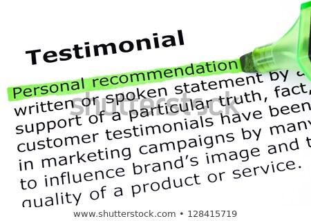 testimonial definition stock photo © ivelin