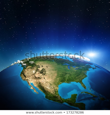 Сток-фото: Earth Sunrise North America