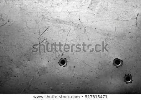 Lövedék fém tányér acél textúra terv Stock fotó © arcoss