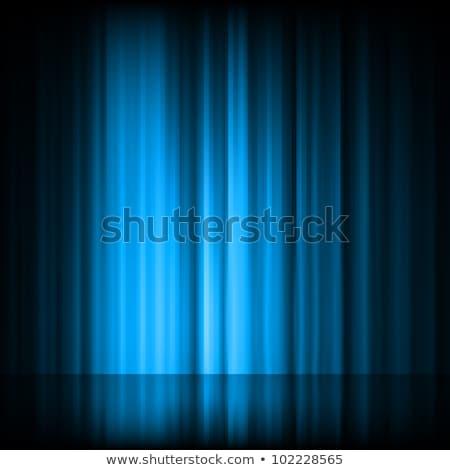 Blue aurora borealis background. EPS 8 Stock photo © beholdereye