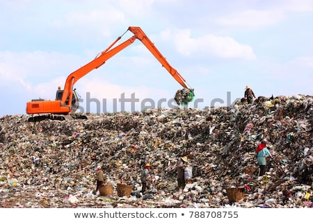 Backhoe at garbage dump Stock photo © Witthaya