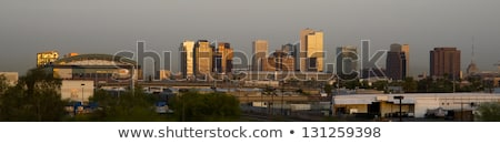 Buildings of Phoenix Arizona Skyline Before The Sun Rises stock photo © cboswell