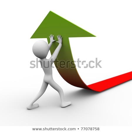 3次元の人々 プッシング 矢印 立って チェック マーク ストックフォト © Quka