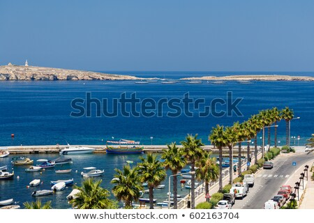 tatil · Yunan · ada · manzara · kaya · görmek - stok fotoğraf © fresh_5775695