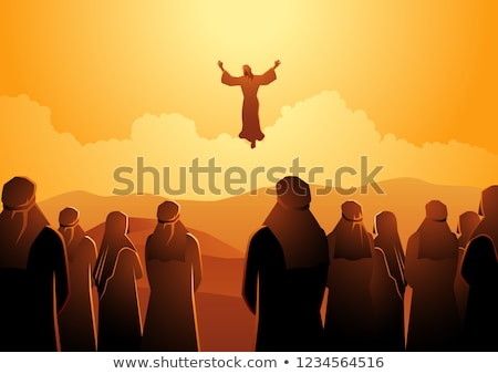 Jesus christ gravé illustration image résurrection Photo stock © Snapshot