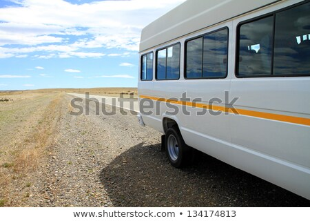 Minibus on Rural Roadside Stock photo © eldadcarin