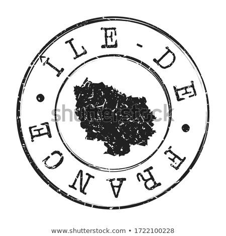 Franciaország · vidék · bélyeg · klasszikus · stílus · térkép - stock fotó © squarelogo