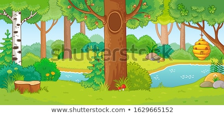 Beehive on a wood glade stock photo © vavlt