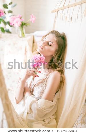 szőke · nő · alsónemű · hátsó · nézet · fehér · bőr · női - stock fotó © wavebreak_media