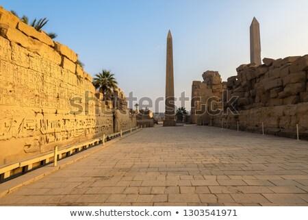 tempel · Egypte · zonnige · landschap · reizen · steen - stockfoto © tanart