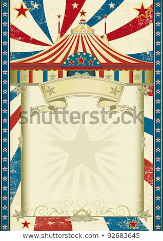цирка грязные триколор Vintage плакат бумаги Сток-фото © tintin75