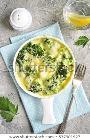 Gratin of cauliflower, broccoli and cheese Stock photo © doupix