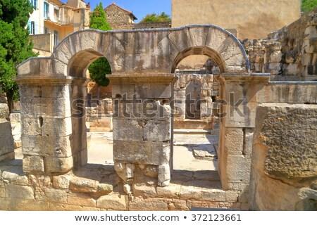 Római templom Franciaország város déli ház Stock fotó © Bertl123