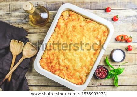 говядины · грибы · лук · картофель · продовольствие · мяса - Сток-фото © photosil