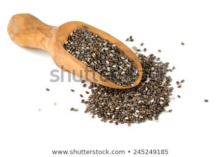 beyaz · tohumları · organik · zengin · omega3 · yağlı - stok fotoğraf © pixelsaway