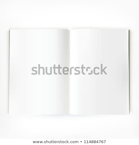 Album nyitva üres lap oldalak iskola oktatás Stock fotó © LoopAll