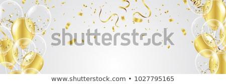 Cumpleanos celebración banner globos fondo diversión Foto stock © milsiart