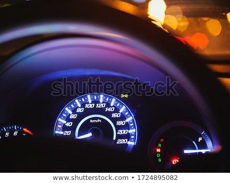 Instrument panel and steering wheel Stock photo © Nneirda