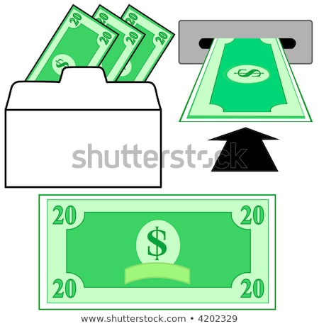 A slotted, vector background with Dollar Bill Stock photo © mike301