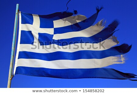 Stock photo: Ragged Greek flag