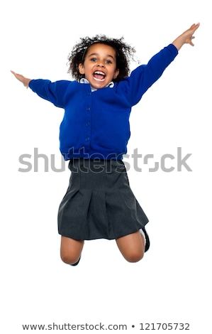 saltando · trampolim · sorridente · menina · saltar - foto stock © get4net