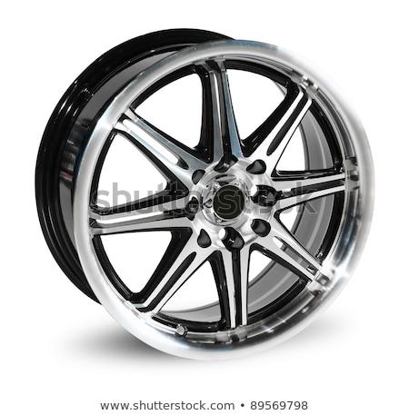 Coche aleación rueda aislado blanco establecer Foto stock © podsolnukh