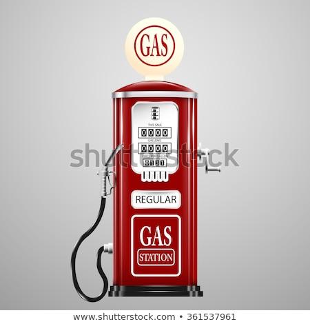 Stok fotoğraf: Bağbozumu · benzin · istasyon · boş · kentsel · Amerika · Birleşik · Devletleri