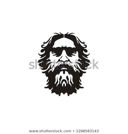 Stock fotó: Greek Mustache Symbol
