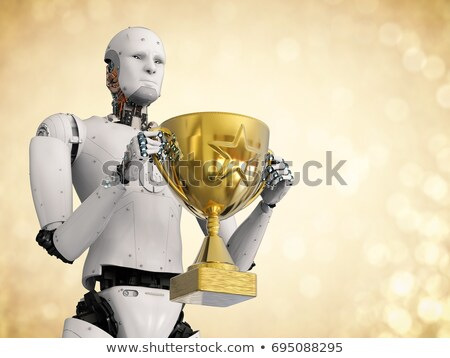 robot with a trophy stock photo © kirill_m