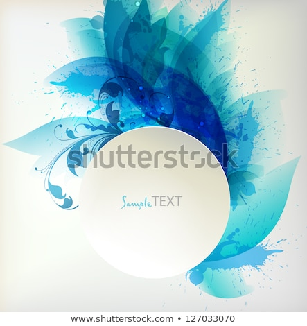 watercolor vector banner with place for your text cold blue colors stock photo © mcherevan