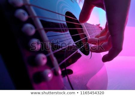 Elektromos gitár lány rocksztár fiatal fiatalság elektromos Stock fotó © keeweeboy