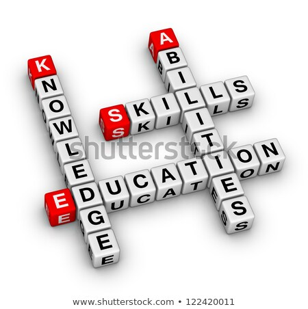 Photo stock: Training On Red Puzzle Educational Concept