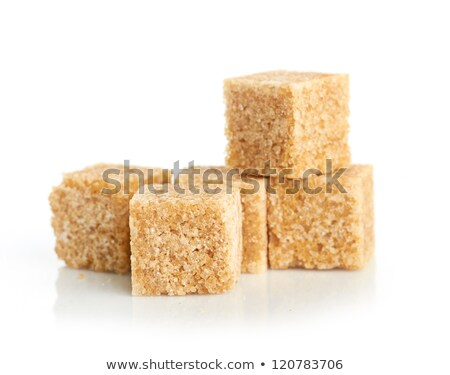 Stock photo: Sugar cube - brown