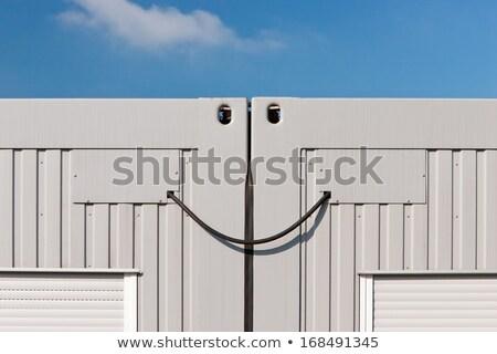 コンテナ ジャンクション 笑顔 目 抽象的な ケーブル ストックフォト © richardjary