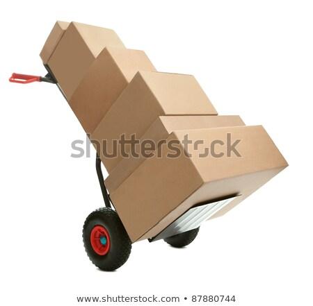壊れやすい 手 トラック スローガン 白 ストックフォト © tashatuvango