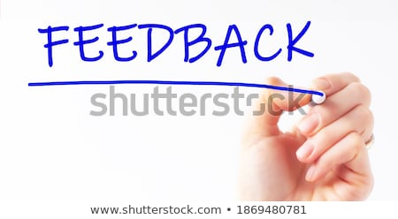 Réaction blanche marqueur main écrit transparent Photo stock © ivelin