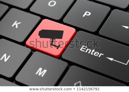 CCTV on Red Keyboard Button. Stock photo © tashatuvango