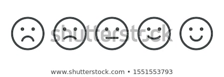 Happy and sad face. Stock photo © stevanovicigor
