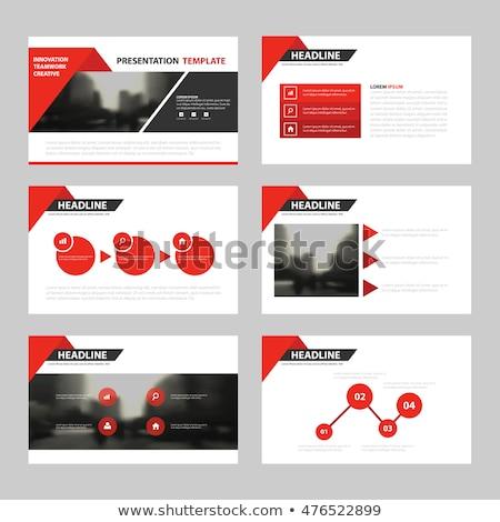 Data Processing on Red in Flat Design. Stock photo © tashatuvango
