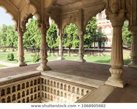 Sawan pavilion in Red Fort Complex in Delhi, India.  Stock photo © meinzahn