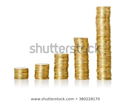 Stock fotó: Increasing Stack Of Coins