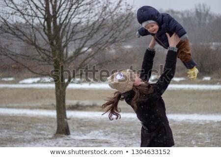 bebek · uçan · doğa · anne · anne - stok fotoğraf © DNF-Style